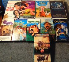 Lot of 10 ASSORTED Family Film VHS Tapes - The Sandlot  Crossbow  Tom & Huck +
