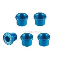 5Pair KCNC Chainring Crank Bolts Set For Shimano ROAD BIKE M8*8.5mm BLUE /USPS