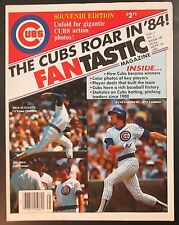 1984 Chicago Cubs Souvenir Edition, Volume 1, number 1! One large sheet!