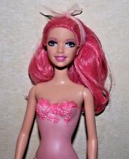 PINK HAIRED FAIRY BARBIE DOLL WITH PINK PAINTED SUIT