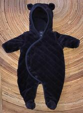 Baby GAP Navy Blue Quilted Velour One-Piece Bunting Suit Baby Boys 0-3 Months