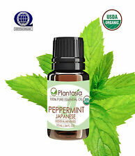 Peppermint Japanese Certified Organic Essential Oil 10 ML .34 FL OZ by Plantasia