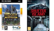 sim city 3000 uk edition & shutter island the adventure game   new&sealed