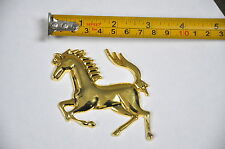 Ferrari Replica Running Golden Horse Emblem Decal  Truck Motorcycle Car Badge