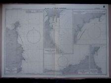 """1969 las Islas Canarias Puerto planes del Almirantazgo mapa gráfico de mar 28"""" X 41"""" D74"""