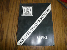 1978 Buick Opel Chassis Service Manual - Original