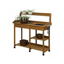 Potting Bench Outdoor Gardening Planting Lawn Work Station Greenhouse Table Sink