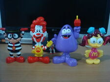 McDONALDS BUBBLE HEAD RONALD, HAMBURGLAR, BIRDIE, GRIMACE COMPLETE SET OF 4 RARE