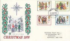 GB 1978 Christmas. (Carol Singers)  FDC