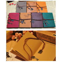 Retro Vintage Classic PU Leather Diary Notebook String Key Journal Sketchbook .!