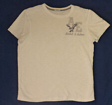 American Eagle Athletic Fit  Short Sleeve Ivory  T-Shirt      M        K#8792