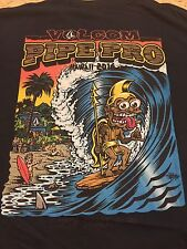 NWT-2016 VOLCOM PIPE PRO SURF CONTEST-PIPELINE NORTH SHORE OAHU LIMITED M BLK T-