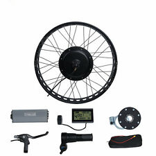 LCD + 72V3000W FAT RIM Electric Bicycle E Bike Hub Motor Conversion kit