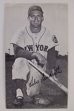 HOBIE LANDRITH New York Met Giants Cardinals Cubs Autographed 3x5 Postcard 16F