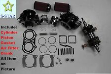 Yamaha Banshee YFZ350 STD 64mm Cylinder Piston Gasket Air Filter Crankshaft kit