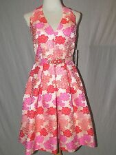 NEW NWT FLORAL TAPESTRY DRESS by ELIZA J PINK & CORAL SZ 6