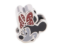 MINNIE MOUSE 925 Sterling Silver Solid Enamel European for Bracelet Bead