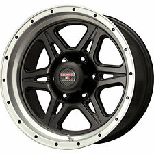 Level 8 Strike 6 16x8.5 6x139.7 (6x5.5) -6mm Black Machined Wheels Rims 62105