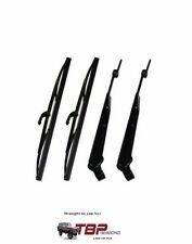 1966-1977 Early Ford Bronco Polished Stainless Windshield Wiper Arm & Blade Kit