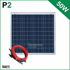 Unlimited Solar 50 Watt 12 Volt Off-Grid Solar Panel Kit - P2 Series