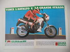 advertising Pubblicità 1984 MOTO GILERA RV 125
