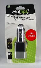 Hottips High Perfomance Car Charger for iPod iPhone APPLE CERTIFIED