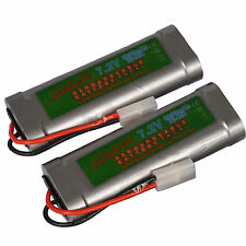 2 pcs 7.2V 6800mAh Ni-Mh rechargeable battery pack RC w/ Tamiya Plug USA
