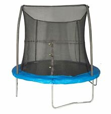 JumpKing 8' Foot ft. Outdoor Trampoline and Safety Net Enclosure Combo - Blue