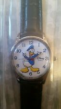 Disney Parks Exclusive Donald Duck Mens Vintage Look Black Watch Moving Hands