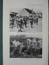 1915 WWI WW1 PRINT ~ GHURKA REGIMENT RETURNING TO TRENCHES LA BASSEE ~ INDIAN