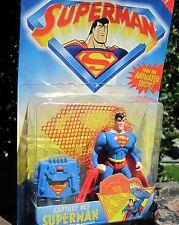 1996 Kenner Superman Action Figure  Capture Met Superman W/Shield Snare shoo MOC