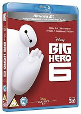 Big Hero 6 Film Movie Blu-ray 3D + Blu-ray New & Sealed FAST POST 8717418451080