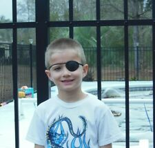 World's Best Eye Patch - CHILD BLACK ,LASTS FOR YEARS , replaceable elastic
