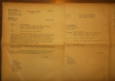 1946 Navy Additional Duties Letters - Atoll Command Kwajalein Pacific Fleet