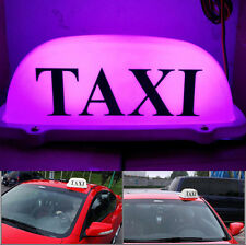 11 inch  12V 10 LED Taxi Cab Sign Roof Top Topper Car Super Bright Light  Purple