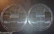 1930's Stabilite Oval Headlight Lenses NOS CB-1271 Corcoran Brown Set Of 2-MS190
