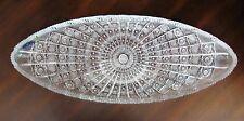 "Bohemia Crystal Oval Plate, 18"" long, Queen-lace Hand cut, Czech Republic"