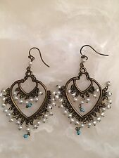 Fashion Chandelier Earrings With Seed Pearls