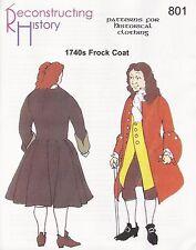 Schnittmuster RH 801 Paper Pattern 1740s Frock Coat Gehrock