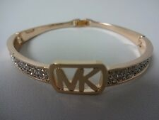 MK Logo Bangle Bracelet Rose Gold