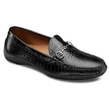 ALLEN EDMONDS GRAND CAYMAN BLACK CROC LEATHER MOC DRIVING MEN SIZE 9/D NIB