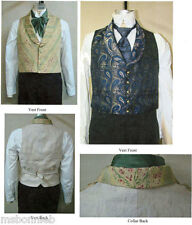 Mens Victorian Shawl Collar Vest 1850-1865 Laughing Moon Bijoux Sewing Pattern