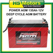 POWER AGM 135 Ah Amp Hour Deep Cycle Battery VRLA Sealed Camper Caravan 4WD
