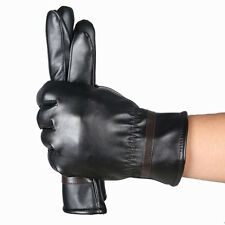 Waterproof Men Fashion Warm Cashmere Leather Male Winter Gloves Driving Sports