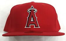 LOS ANGELES ANGELS NEW ERA FITTED CAP HAT RED-WHITE GRAY UNDERVISOR SIZE 8