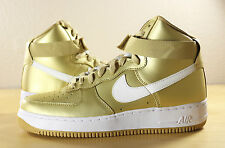 Nike Air Force 1 One High Retro QS Nikelab Metallic Gold White 823297-700 sz 6.5
