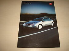 CITROEN C5 SALOON FOLLETO VENTAS GB - FECHA SETIEMBRE 2002