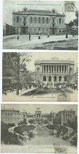 LOT 3 CPA postcard Palais Longchamp Bourse Ecole des Beaux Arts MARSEILLE 650 A
