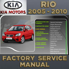 KIA Rio 2005 2006 2007 2008 2009 2010 2011 Service Repair Manual Workshop