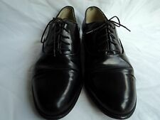 MENS 9 D FLORSHEIM BARLETTA Black  LEATHER DRESS OXFORD Shoe